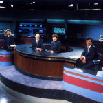 News set in the early 90s.. l-r: Diana Otteson, Jim Haskins, Pam MacKenzie and Brent Hansen