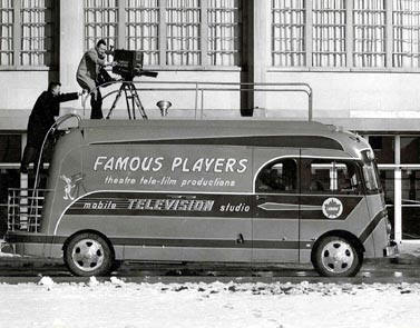 Here's the Famous Players Mobile Remote outside of the Kitchener Auditorium.