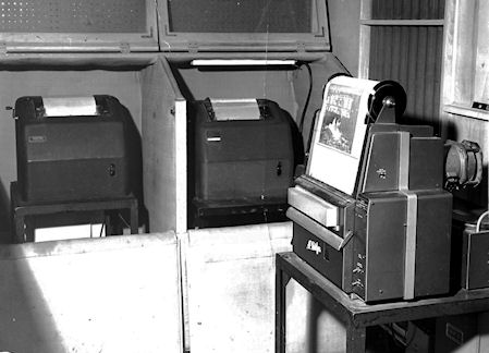 News Departments AP and CP Teletype machines and AP facsimile machine