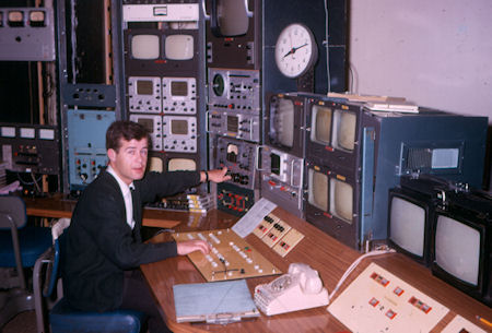 Pat Fitzgerald in Master Control mid 60s