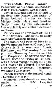 Fitzgerald, Pat - August 9, 1993 - Obit