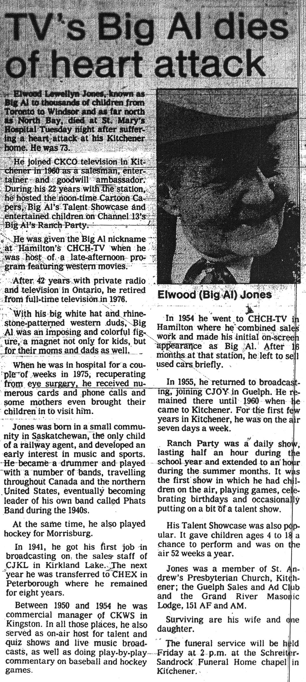 Jones, Elwood L. - March 28, 1984 - Story