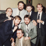 "Clockwise from the top: Tom Keller, Kevin Doerr, Dan Bailey, Brian ""Buck"" Dunseith, Ken Elliott, Joe Ulmer and Paul Francescutti. Photo from Paul Francescutti"