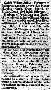 Art Carr - Record Obit