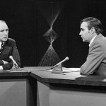 Prime Minister Pierre Elliot Trudeau on the Scan set with Gary McLaren